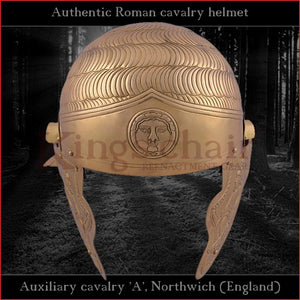 "Authentic replica - ""Auxiliary cavalry A"" helmet (brass)"