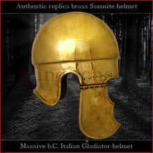 Load image into Gallery viewer, Authentic replica - Samnite helmet (brass)