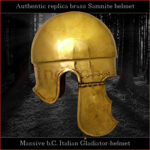 Authentic replica - Samnite helmet (brass)