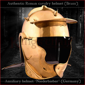 "Authentic replica ""Niederbieber"" auxiliary infantery helmet (brass)"