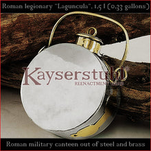 Load image into Gallery viewer, Authentic replica - Roman legionary Laguncula (steel & brass)
