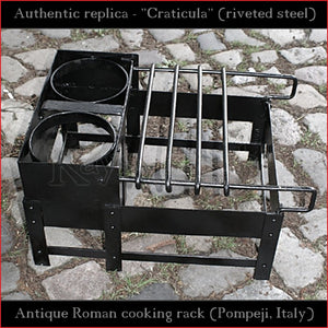 "Authentic replica - Roman Craticula ""Pompeji"" (revited steel)"