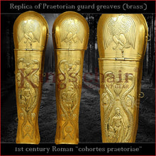 Load image into Gallery viewer, Replica - Roman Praetorian guard greaves (Brass)