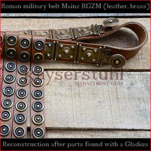 "Load image into Gallery viewer, Authentic Replica - Cingulum Militare ""Mainz"" with apron (new version, tinned brass)"