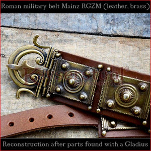 "Authentic Replica - Cingulum Militare ""Mainz"" with apron (new version, tinned brass)"