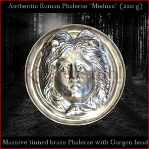 "Authentic Replica - Big Roman Phalera ""Medusa"" (tinned brass)"