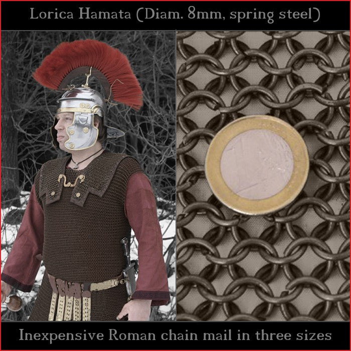 Lorica Hamata (Unriveted spring steel chain mail) - Economy