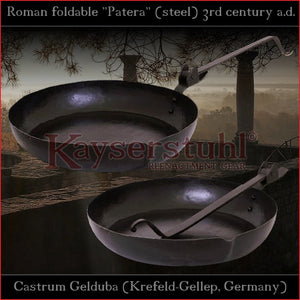 "Authentic replica - Foldable Roman Patera ""Gelduba"" (steel)"