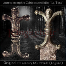 "Load image into Gallery viewer, Authentic replica Celtic ""La-Tène"" antropomorphic sword"
