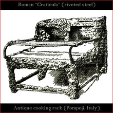 "Load image into Gallery viewer, Authentic replica - Roman Craticula ""Pompeji"" (revited steel)"