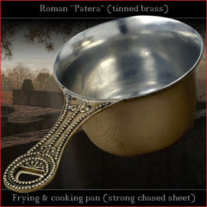 Authentic replica - Strong chased sheet Roman Patera (tinned brass)