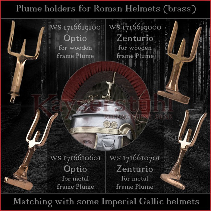 Authentic Replica - Plume holders for Imperial Gallic helmets (Crista)