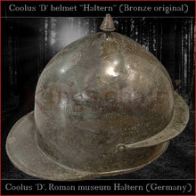 "Load image into Gallery viewer, Authentic replica ""Coolus 'D' Haltern"" helmet  (brass)"