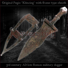 "Load image into Gallery viewer, Authentic replica - Pugio ""Künzing"" (Roman dagger with frame type sheath)"