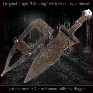"Authentic replica - Pugio ""Künzing"" (Roman dagger with frame type sheath)"