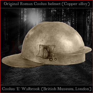 "Authentic replica ""Coolus 'E' Walbrook"" helmet (brass)"