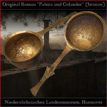 Load image into Gallery viewer, Authentic replica - Strong chased sheet Roman Patera (tinned brass)