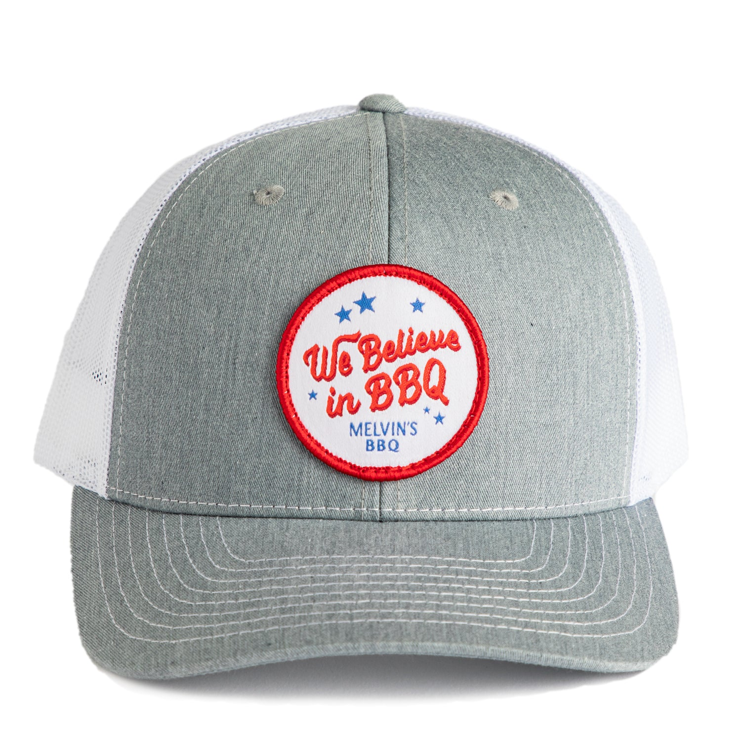 Melvin's Grey We Believe Richardson Patch Hat