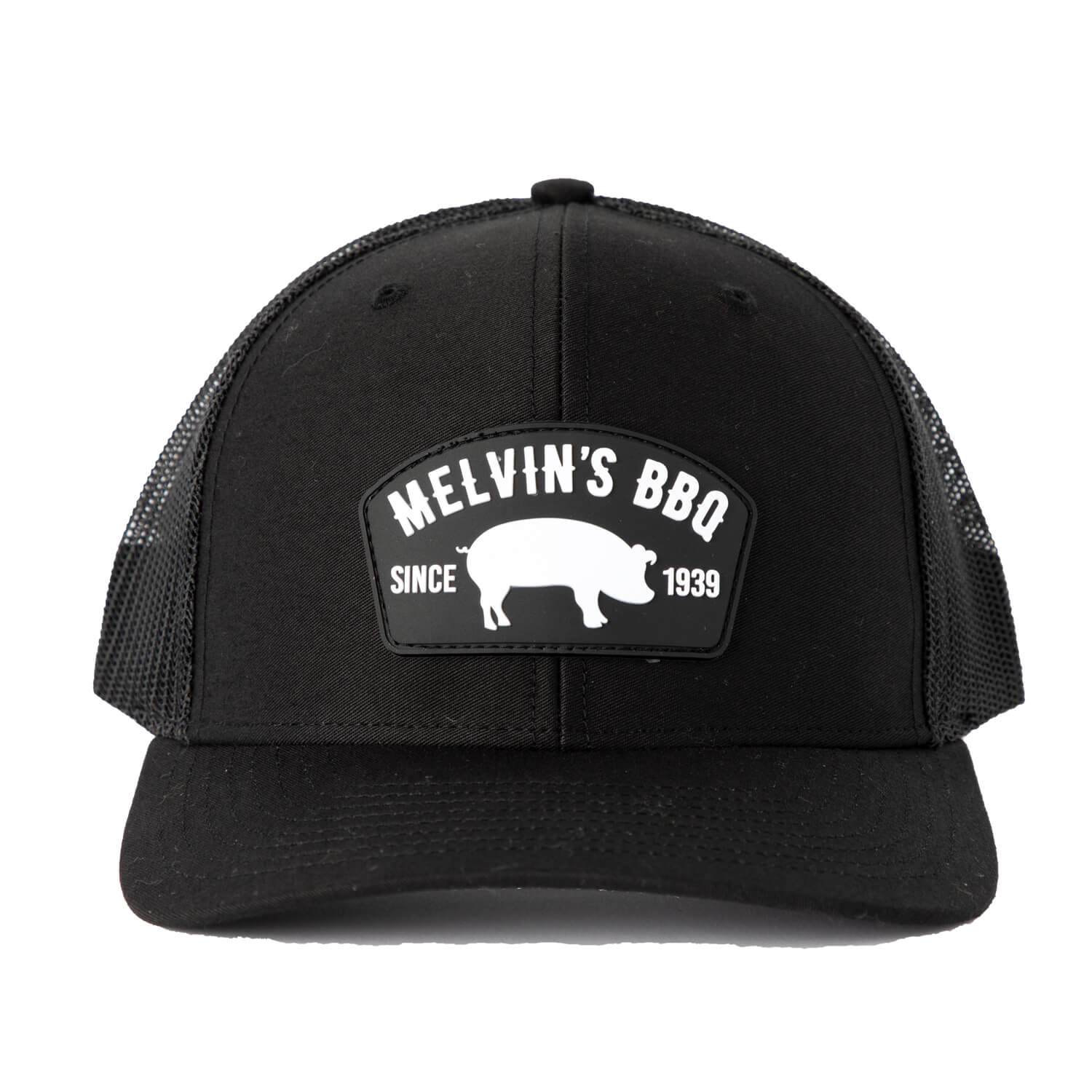 Melvin's Black Richardson PVC Patch Hat