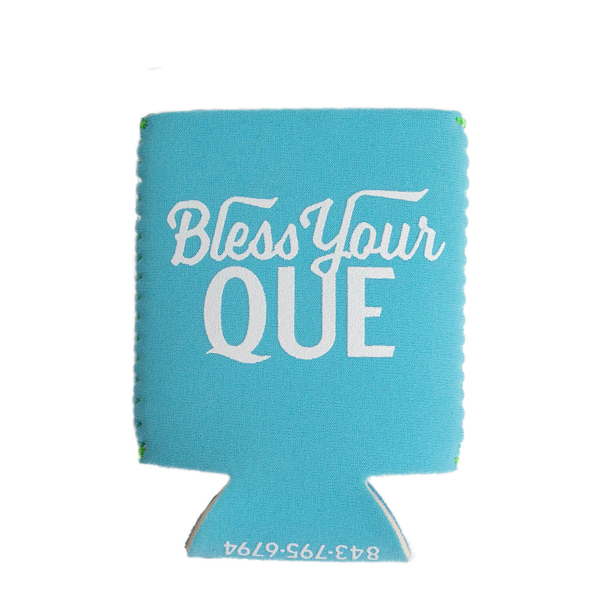 bless your que blue koozie