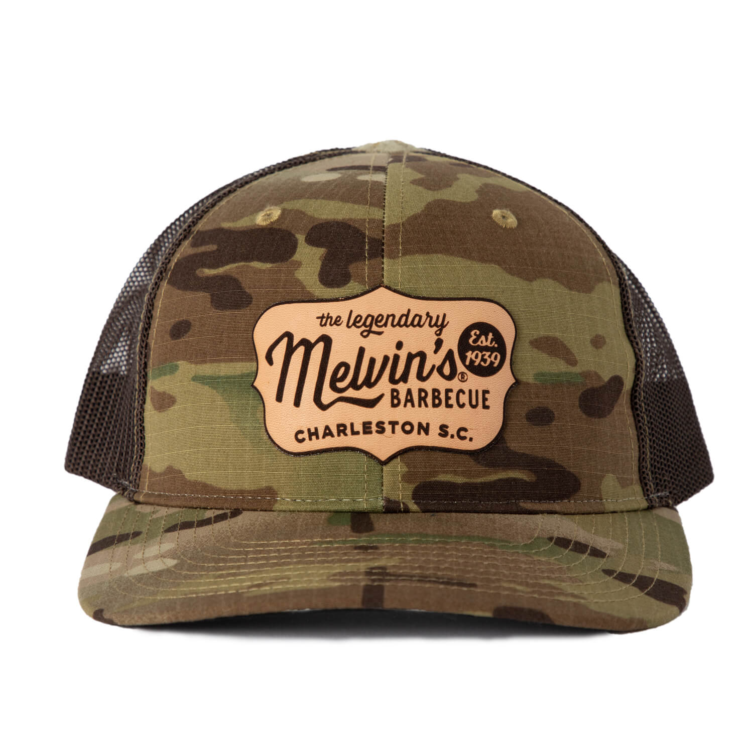 Melvin's Camo Richardson Leather Patch Hat