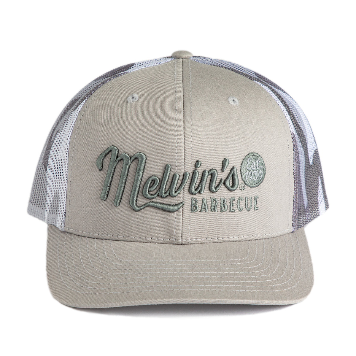 melvin's silver camo richardson stitch hat