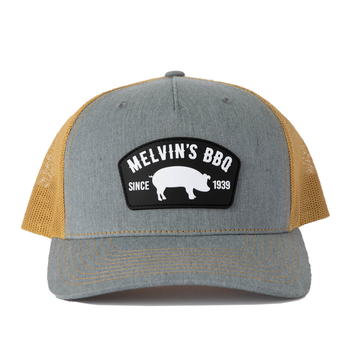 melvin's grey pvc richardson patch hat
