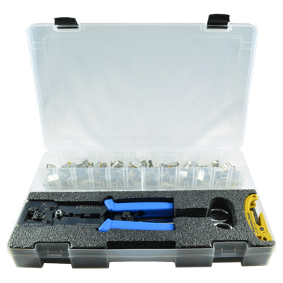 Network Tools and Connectors/EZ Tool kits with cases