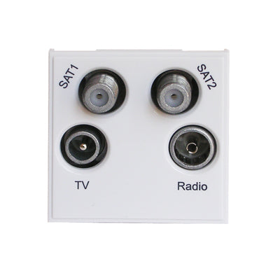 Wall Plates and Modules/Modules/TV, Satellite and Telephone Modules