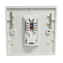 Single RJ45 Outlet with White Faceplate rear