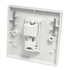Single RJ45 Outlet with White Faceplate back