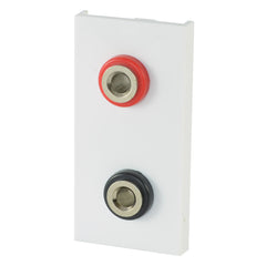single white speaker module with flat terminals front