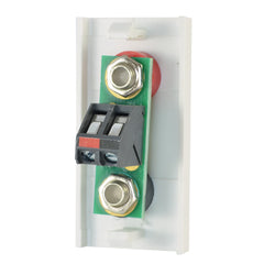 single white speaker module with flat terminals rear