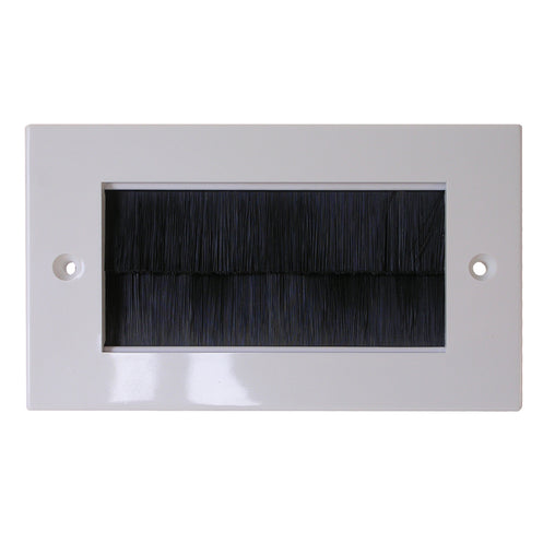 white brushplate black brush double