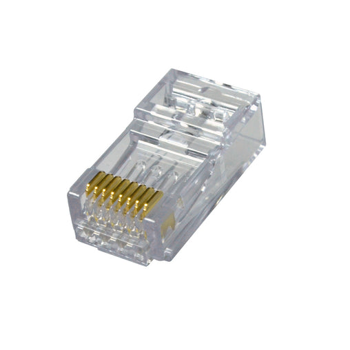 ezEX44 cat6a connectors front pack of 100 202044J