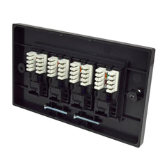 Quad RJ45 Outlet with Black Faceplate rear