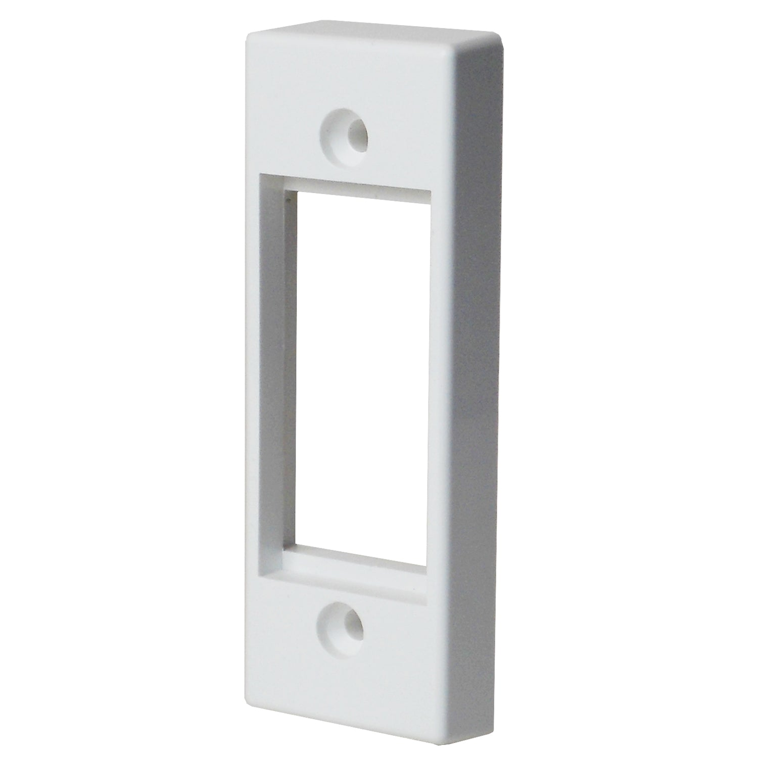 architrave faceplate for modules in white