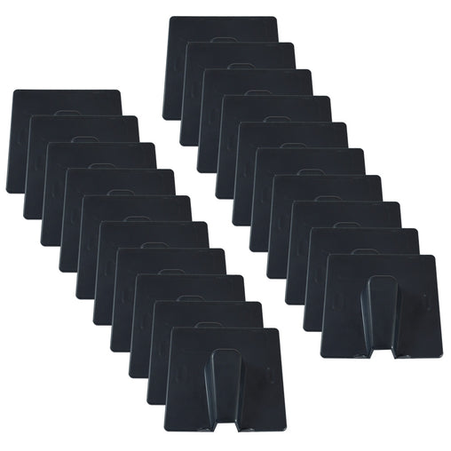 Satellite or RF cable entry exit covers in black pack of 20