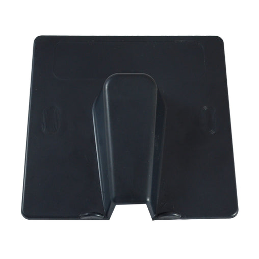cable entry exit cover blow out plate in black front