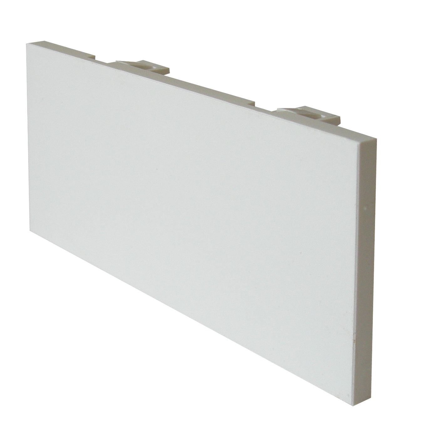 white blanking plate four module 50mm x 100mm