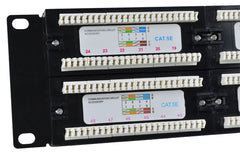 CAT5e 48 Port Patch Panel rear