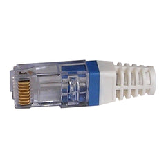 EZ-RJ45 CAT6 Strain Relief Blue 100030B-10 with connector