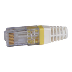 EZ-RJ45 CAT6 Strain Relief Yellow boot 100030Y-C with EZ plug