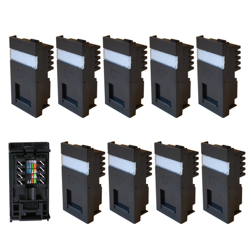 cat5 cat6 modules black