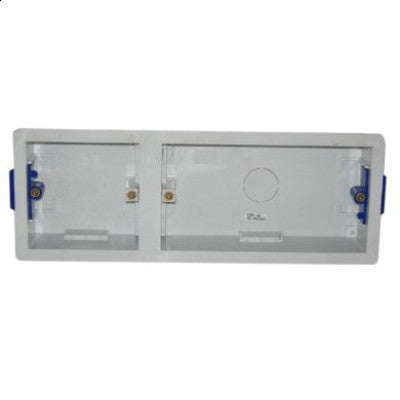 Plastic Dual 35mm single and double Mounting Box