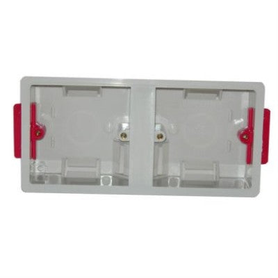 Plastic Mounting Box Dual Single Gang 35mm