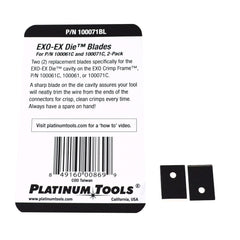 pack of 2 exo blades for exo die 100071BL rear of package