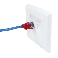 ez datalock cat5 RJ45 red 100041R with faceplate