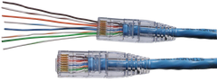 Strain Relief 105016 with EZ RJ45 CAT6 connector