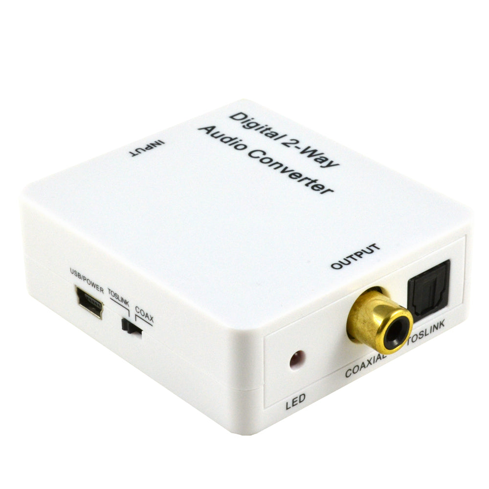 optical to coaxial audio converter front